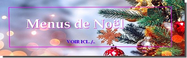 Menu de Noel Vegan
